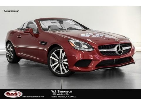 designo Cardinal Red Metallic 2019 Mercedes-Benz SLC 300 Roadster