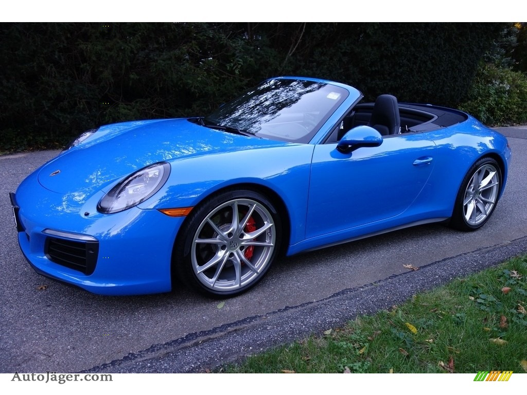 2017 911 Carrera 4S Cabriolet - Paint to Sample Voodoo Blue / Black photo #1