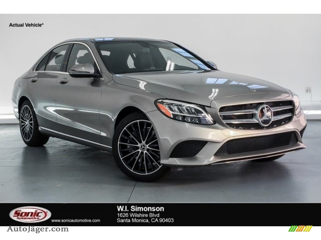 2019 C 300 Sedan - Mojave Silver Metallic / Magma Grey/Black photo #1