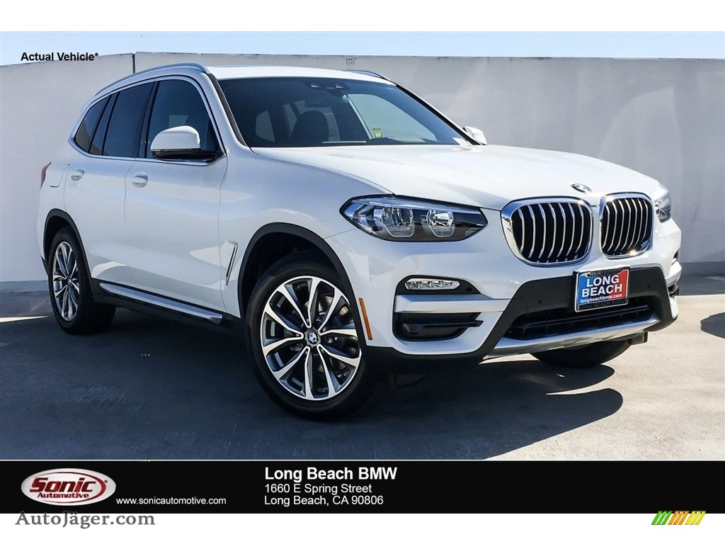 2019 X3 sDrive30i - Alpine White / Black photo #1