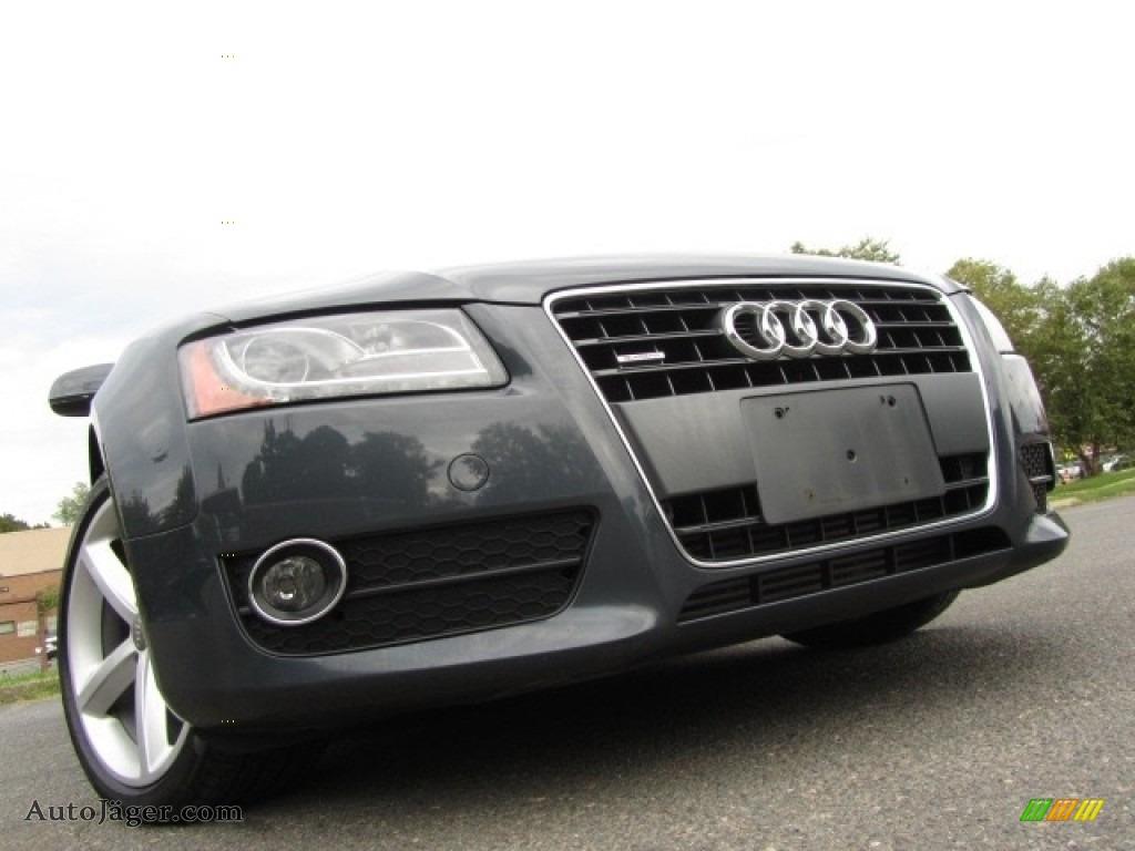 2010 A5 2.0T quattro Coupe - Meteor Gray Pearl Effect / Black photo #1