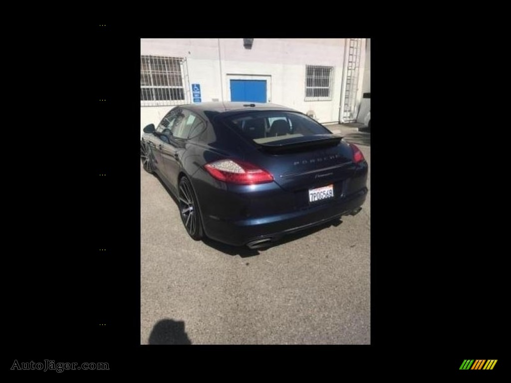 2012 Panamera 4 - Dark Blue Metallic / Luxor Beige photo #5