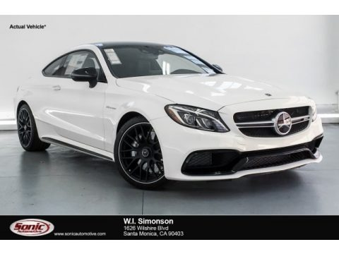 Polar White 2018 Mercedes-Benz C 63 AMG Coupe