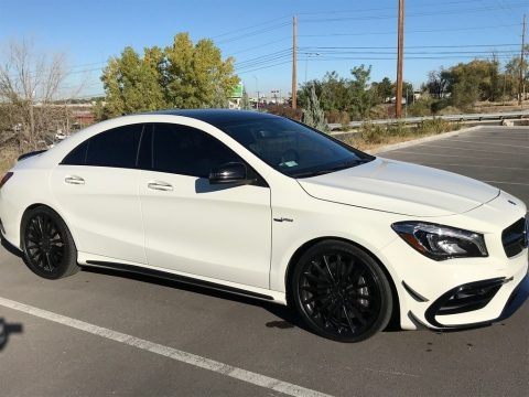 Cirrus White 2017 Mercedes-Benz CLA 45 AMG 4Matic Coupe