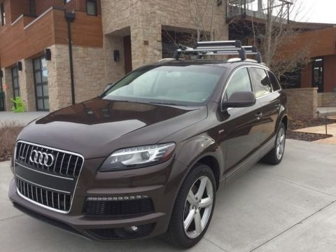 Teak Brown Metallic 2014 Audi Q7 3.0 TFSI quattro S Line Package