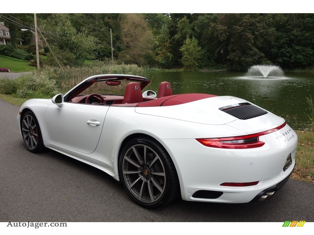 2017 911 Carrera 4S Cabriolet - White / Bordeaux Red photo #4