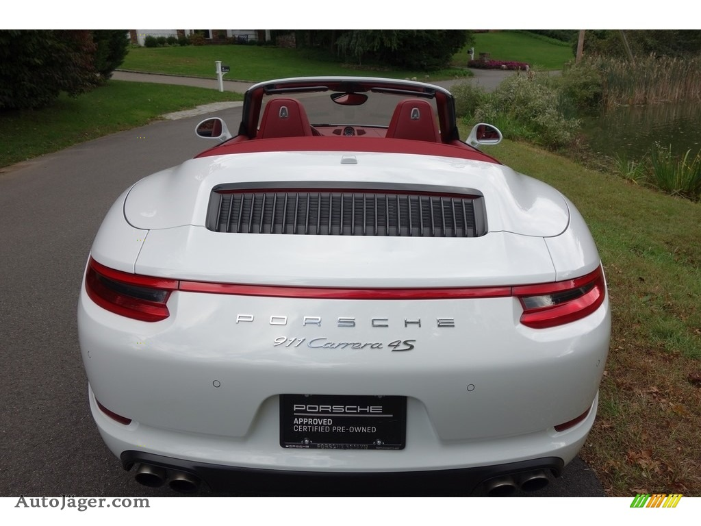 2017 911 Carrera 4S Cabriolet - White / Bordeaux Red photo #5