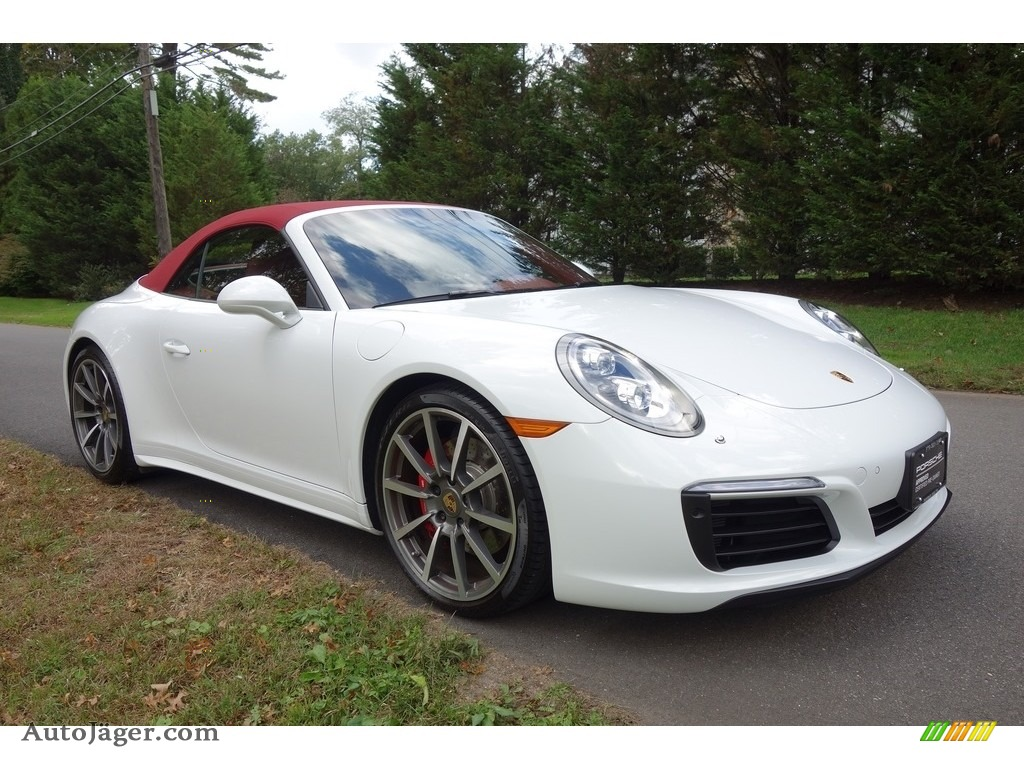 2017 911 Carrera 4S Cabriolet - White / Bordeaux Red photo #8