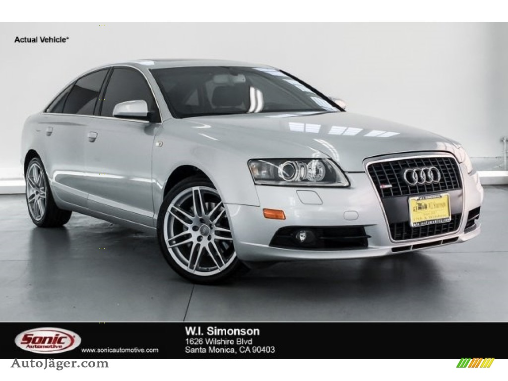 2008 A6 3.2 quattro Sedan - Light Silver Metallic / Black photo #1