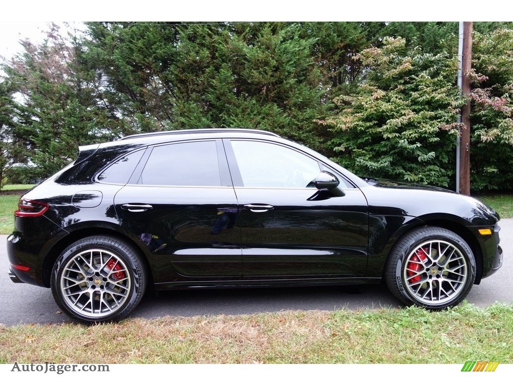 2018 Macan Turbo - Black / Black/Garnet Red photo #3