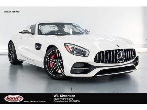 designo Diamond White Metallic 2018 Mercedes-Benz AMG GT C Roadster