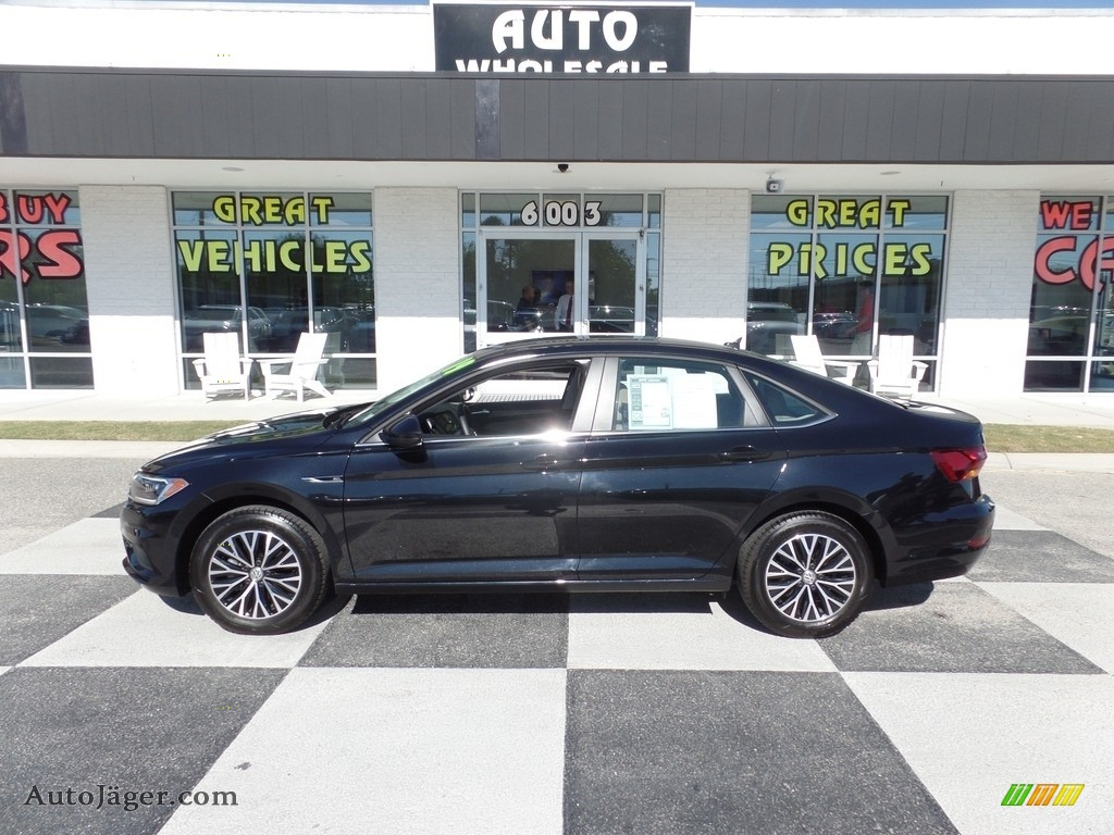 2019 Jetta SEL - Black / Dark Beige photo #1