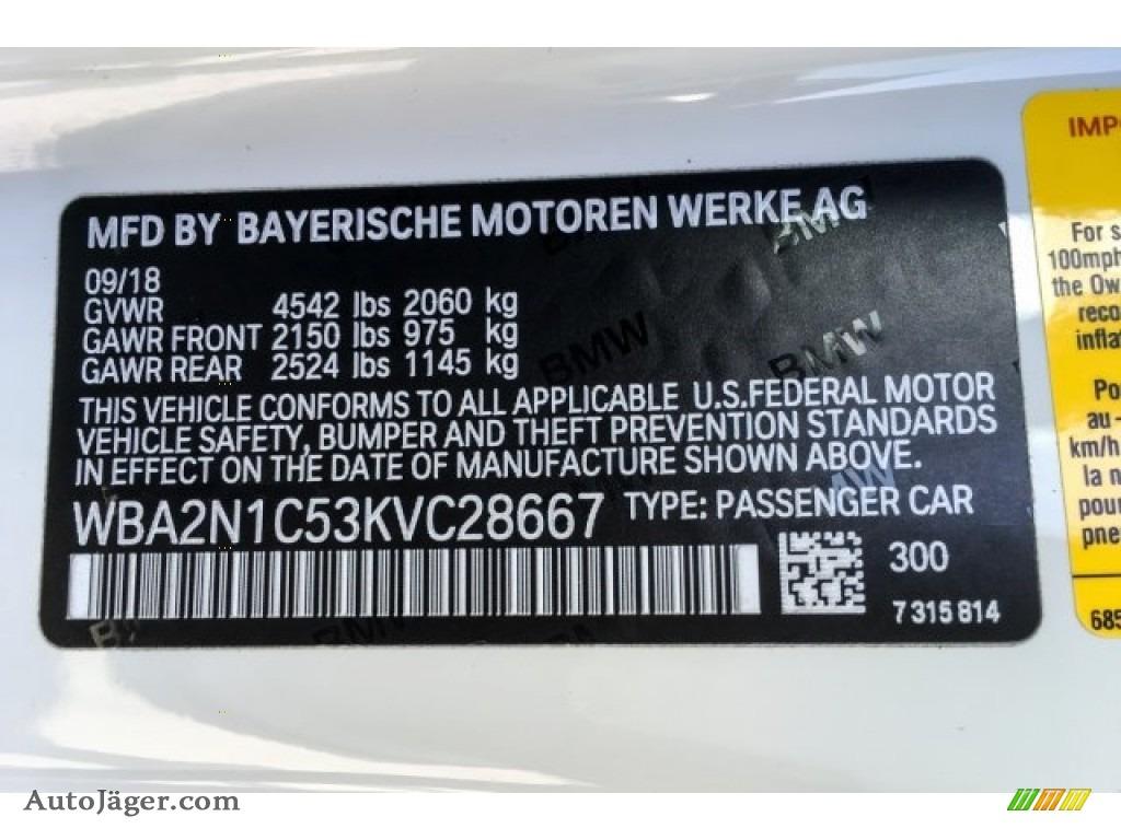 2019 2 Series M240i Convertible - Alpine White / Black photo #11