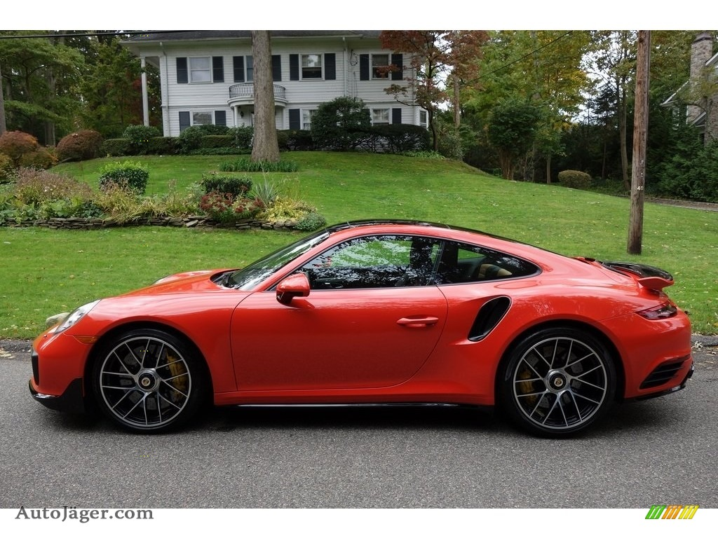 2018 911 Turbo S Coupe - Lava Orange / Espresso/Cognac Natural photo #7