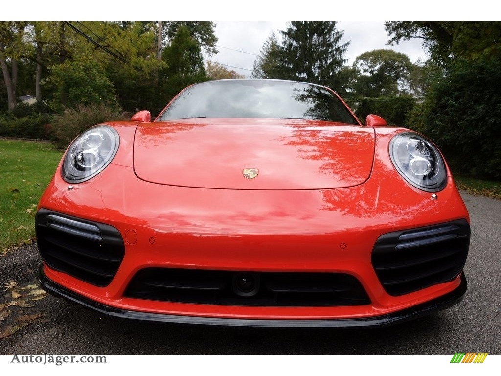 2018 911 Turbo S Coupe - Lava Orange / Espresso/Cognac Natural photo #10