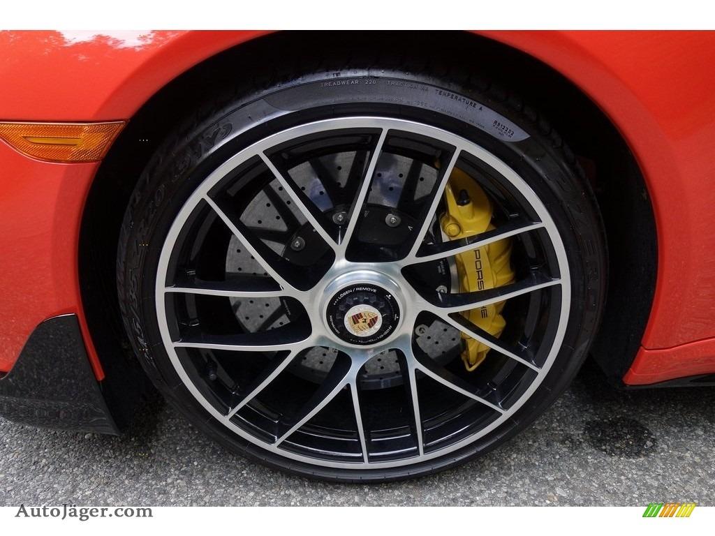 2018 911 Turbo S Coupe - Lava Orange / Espresso/Cognac Natural photo #13