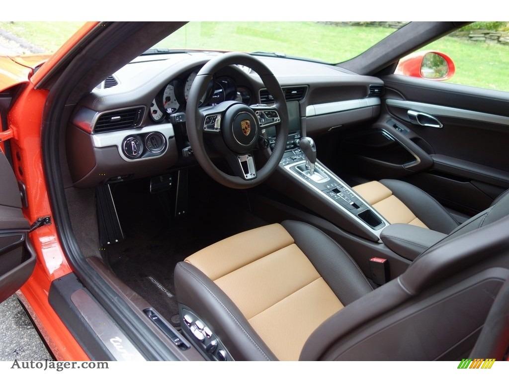 2018 911 Turbo S Coupe - Lava Orange / Espresso/Cognac Natural photo #20