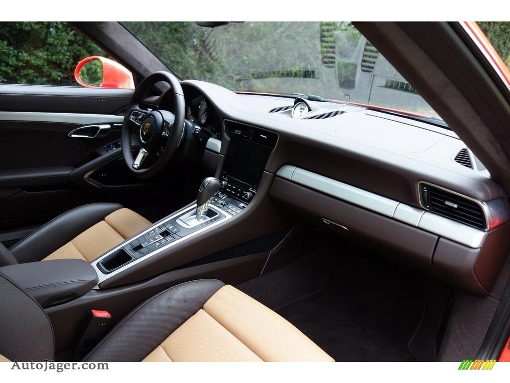 2018 911 Turbo S Coupe - Lava Orange / Espresso/Cognac Natural photo #27