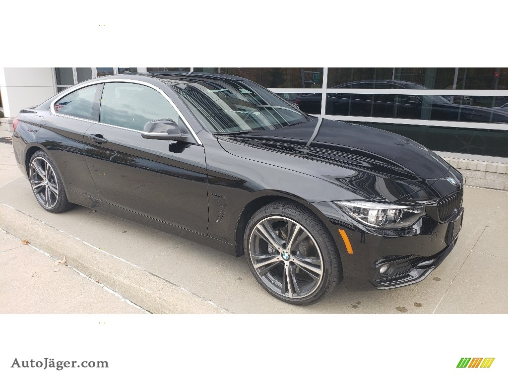 2019 4 Series 430i xDrive Coupe - Jet Black / Black photo #1