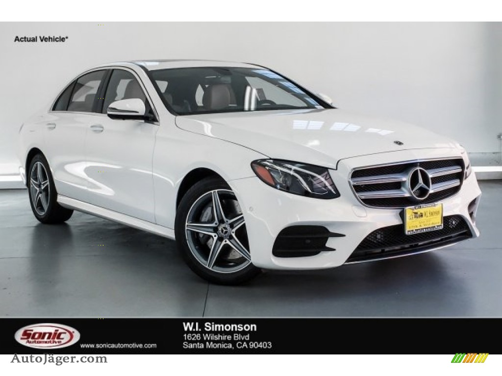 2019 E 300 Sedan - Polar White / Macchiato Beige/Black photo #1