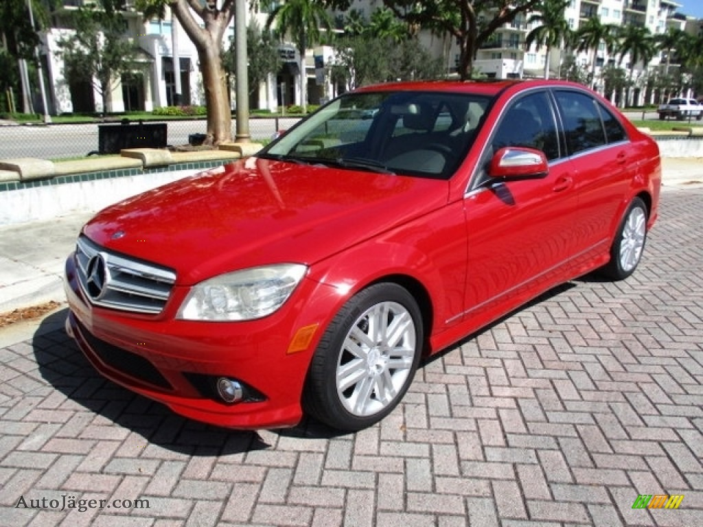 2009 C 300 Luxury - Mars Red / Almond/Mocha photo #1