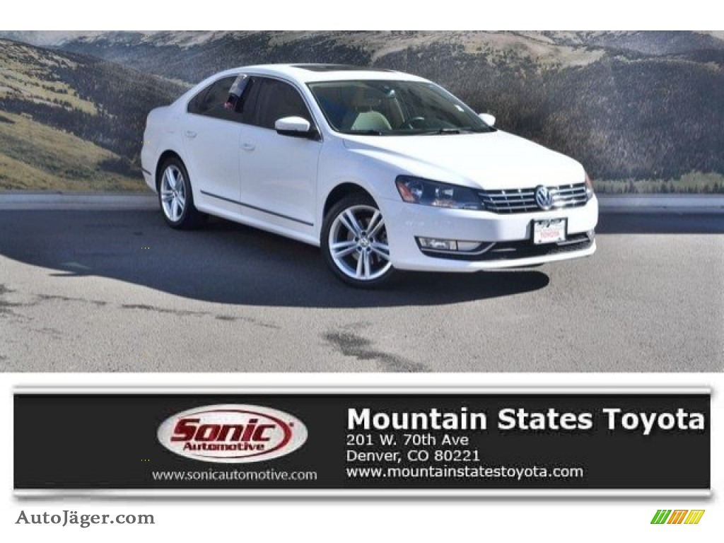 Candy White / Cornsilk Beige Volkswagen Passat V6 SEL