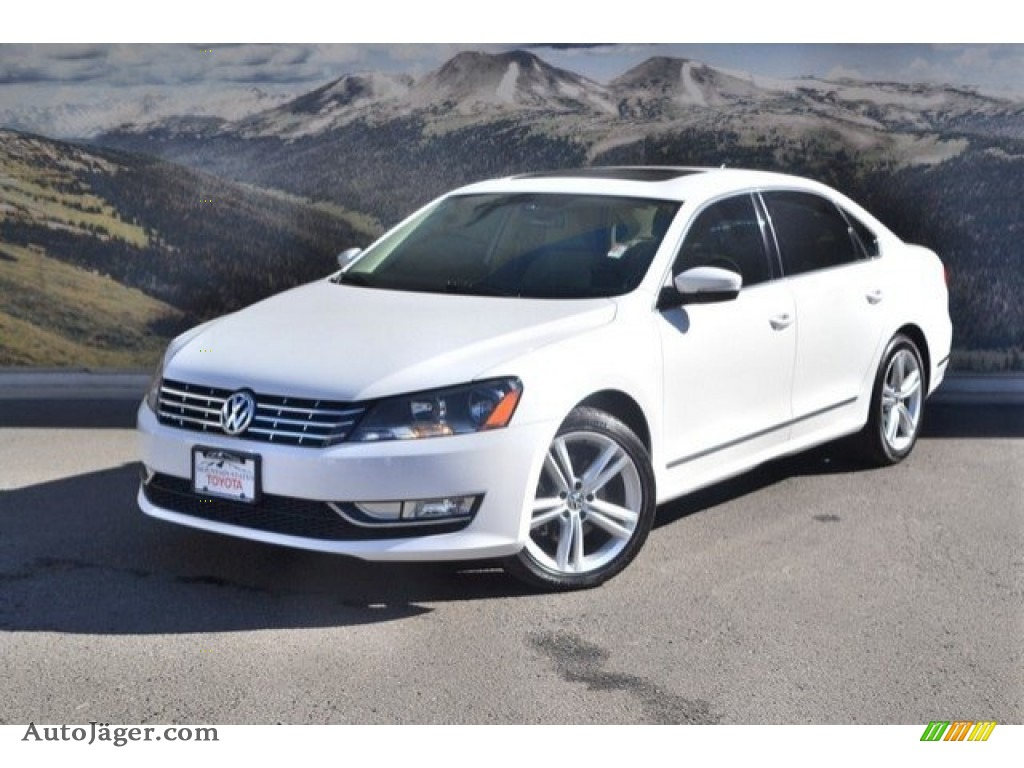 2013 Passat V6 SEL - Candy White / Cornsilk Beige photo #5