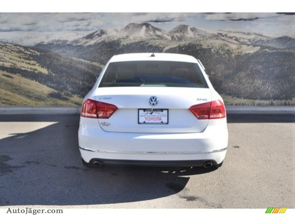 2013 Passat V6 SEL - Candy White / Cornsilk Beige photo #9