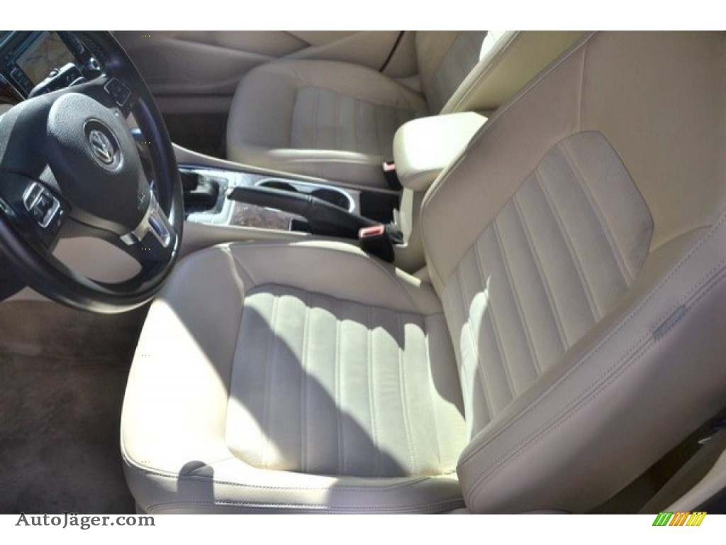 2013 Passat V6 SEL - Candy White / Cornsilk Beige photo #11
