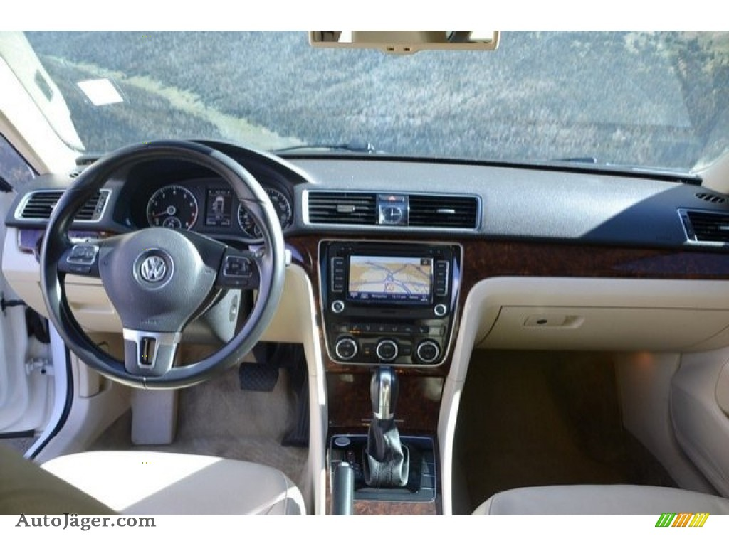 2013 Passat V6 SEL - Candy White / Cornsilk Beige photo #13