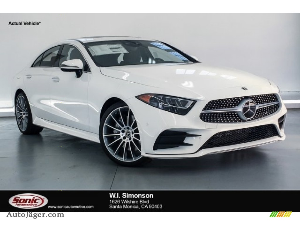 Polar White / Black Mercedes-Benz CLS 450 Coupe