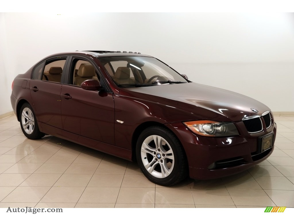 2008 3 Series 328xi Sedan - Barbera Red Metallic / Beige Dakota Leather photo #1
