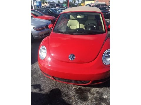 Salsa Red 2009 Volkswagen New Beetle 2.5 Convertible