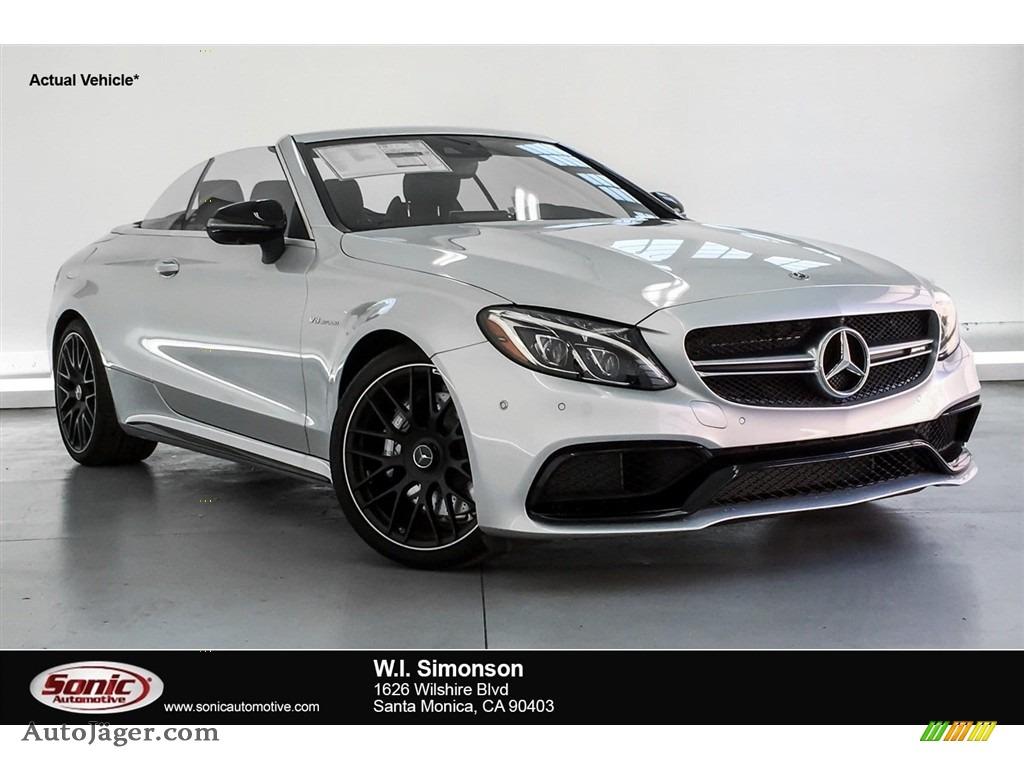 2018 C 63 AMG Cabriolet - Iridium Silver Metallic / Platinum White Pearl/Black photo #1