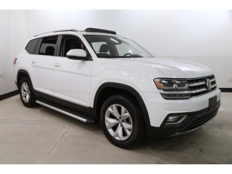Pure White 2018 Volkswagen Atlas SEL 4Motion
