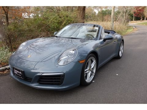 Graphite Blue Metallic 2017 Porsche 911 Carrera Cabriolet