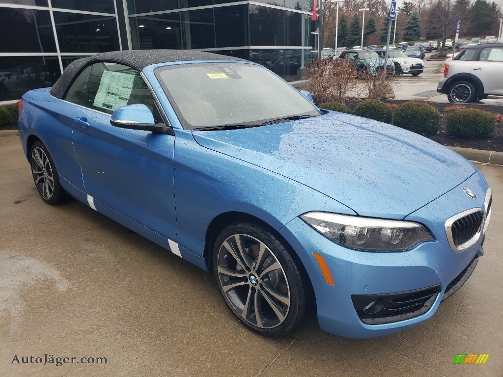 Seaside Blue Metallic / Oyster/Black BMW 2 Series 230i xDrive Convertible