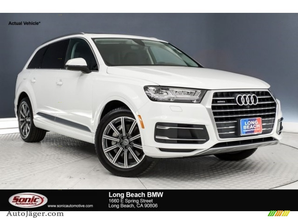 2018 Q7 2.0 TFSI Premium Plus quattro - Carrara White / Black photo #1