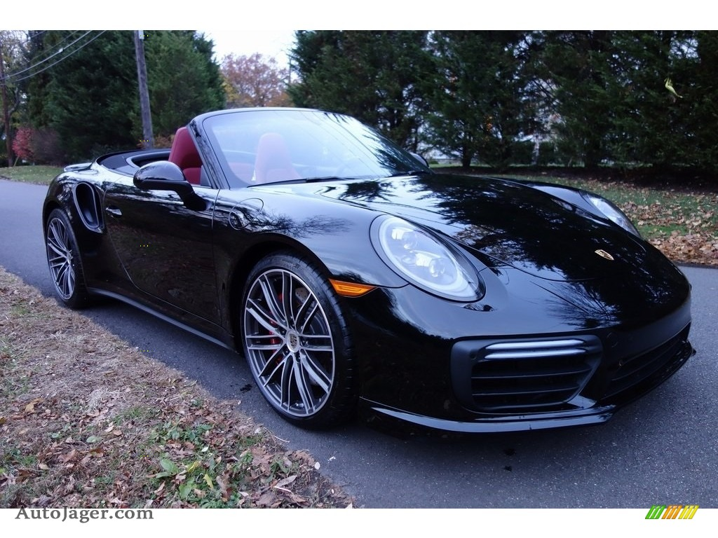 2019 911 Turbo Cabriolet - Black / Black/Bordeaux Red photo #1
