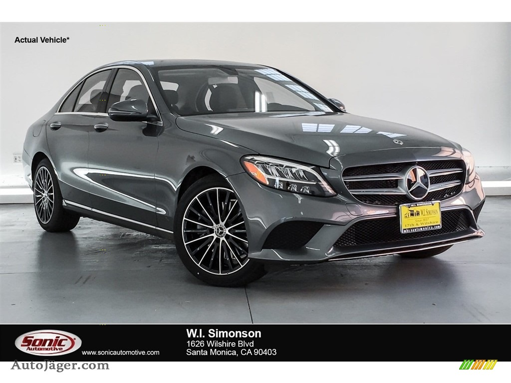 2019 C 300 Sedan - Polar White / Magma Grey/Black photo #1