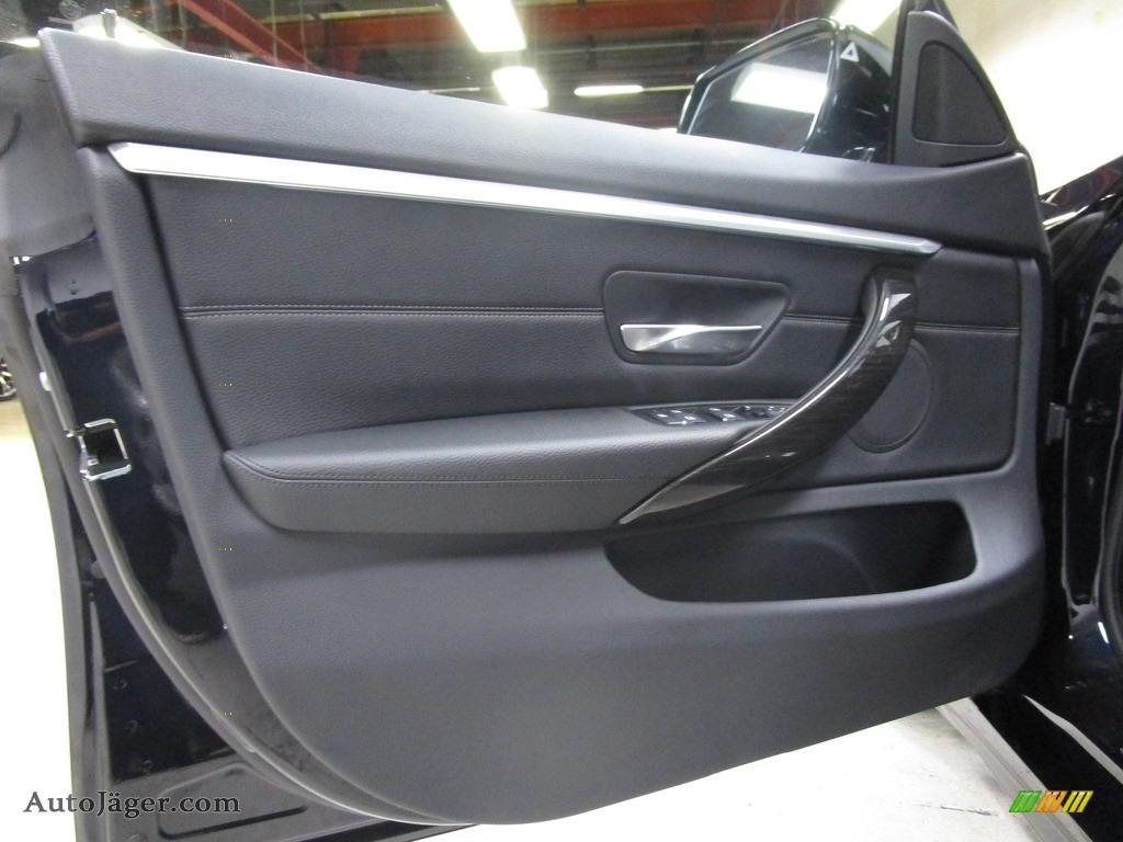 2019 4 Series 430i xDrive Gran Coupe - Carbon Black Metallic / Black photo #7