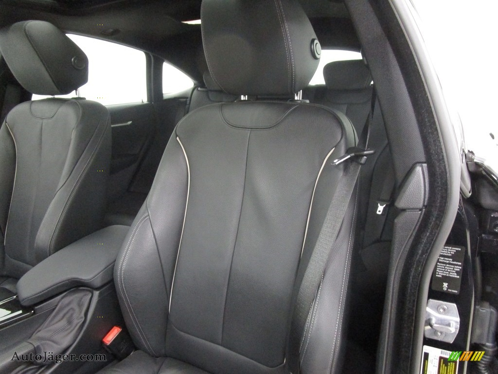 2019 4 Series 430i xDrive Gran Coupe - Carbon Black Metallic / Black photo #8