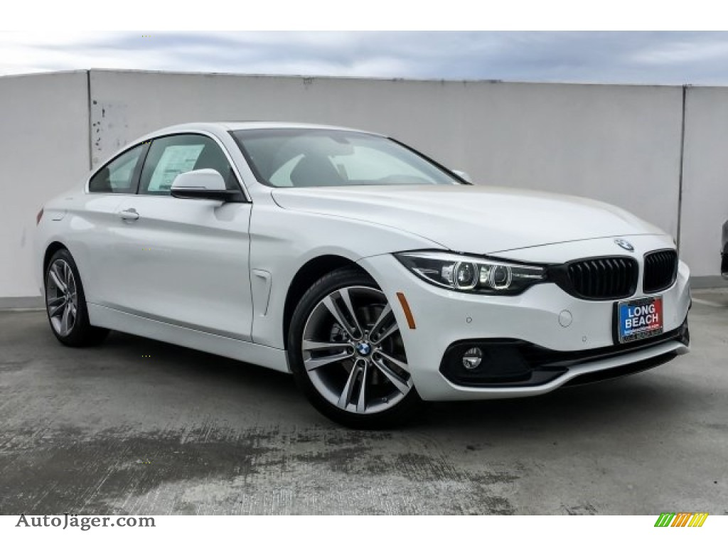 2019 4 Series 430i Coupe - Alpine White / Black photo #12