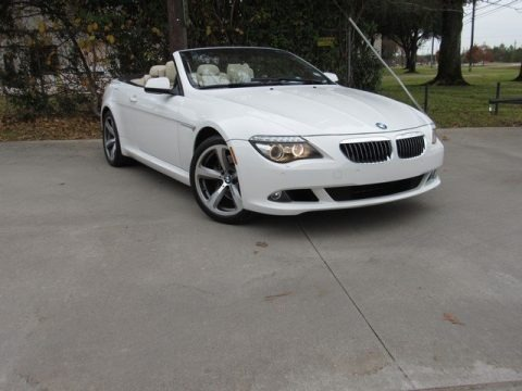 Alpine White 2010 BMW 6 Series 650i Convertible