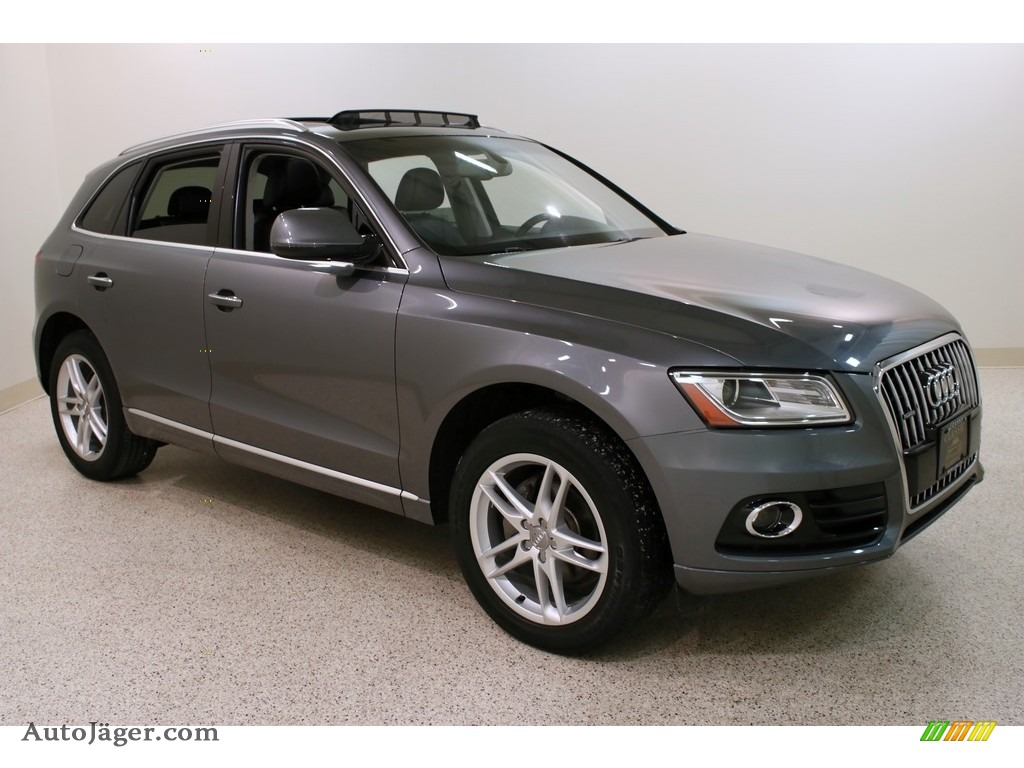 Monsoon Gray Metallic / Black Audi Q5 2.0 TFSI Premium quattro