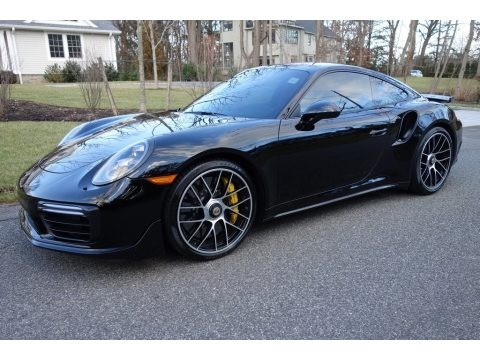 Black 2017 Porsche 911 Turbo S Coupe