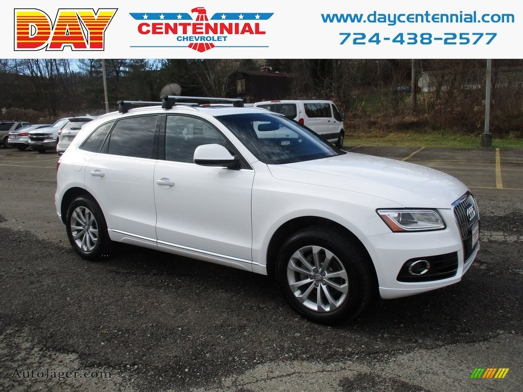 2016 Q5 2.0 TFSI Premium quattro - Ibis White / Chestnut Brown photo #1