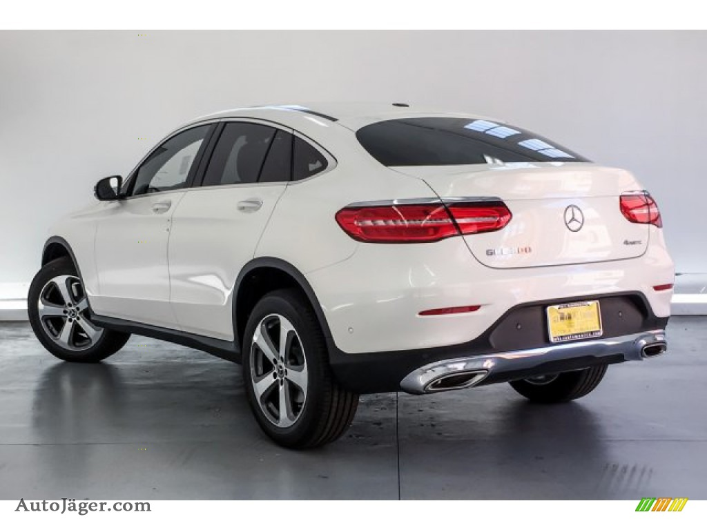 2019 GLC 300 4Matic Coupe - designo Diamond White Metallic / Black photo #2