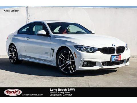 Alpine White 2019 BMW 4 Series 430i Coupe