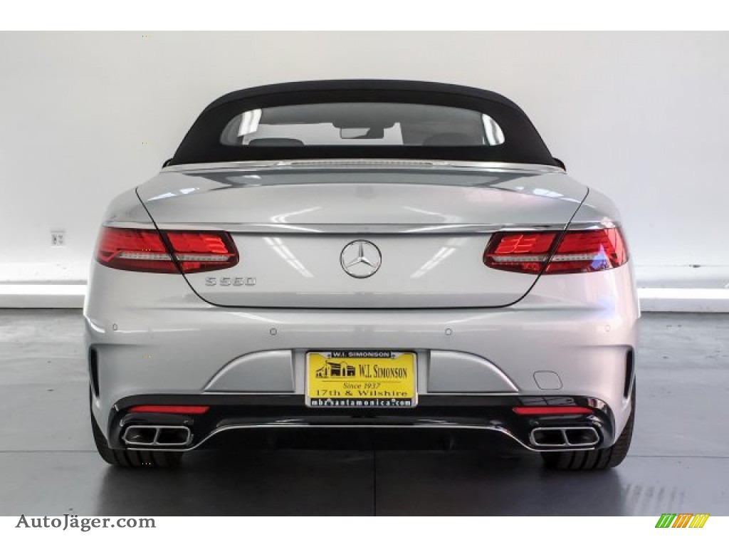 2019 S S 560 Cabriolet - Iridium Silver Metallic / Black photo #3